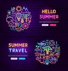 summer website banners vector image