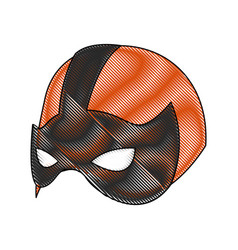 Super hero mask for face character in flat style vector