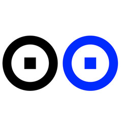 target glyp icon vector image