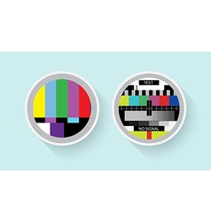 Tv colour test vector image