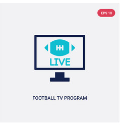 Two color football tv program icon from american vector