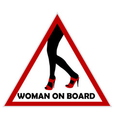 woman on board sign vector image