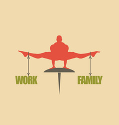 work and family balance concept of the scales vector image