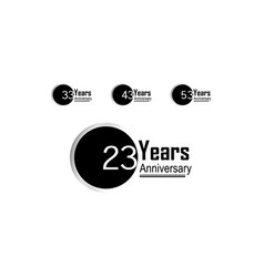 Year anniversary template design back circle vector
