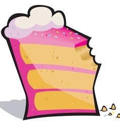 cake bite vector image vector image