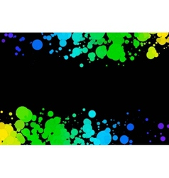 colored circles on a black background vector image
