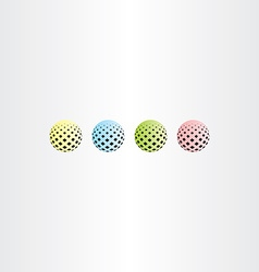 colorful ball circle with square halftone vector image