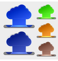 computer clouds bookmarks vector image