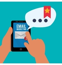 Email marketing and communication media design vector image