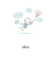 Flight of ideas vector image