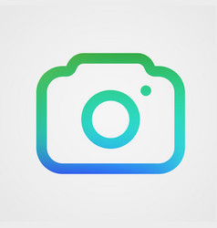 modern photo camera icon isolated icon vector image
