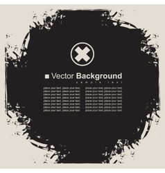 abstract black background frame vector image