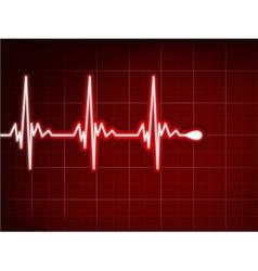 Heart cardiogram background vector