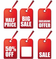 sale gift tags vector image vector image
