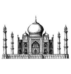 Taj Mahal logo design template India or Hindu vector image vector image