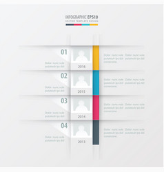 timeline report design template yellow blue pink vector image vector image