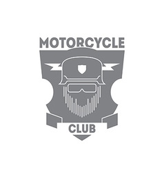 Vintage motorcycle labels badges or logo with vector image