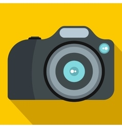 Camera icon in flat style vector image