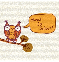Cute doodle owl background vector image