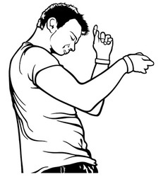 Dancing Young Man vector image vector image