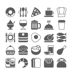 Food and drinks Icons Set vector image
