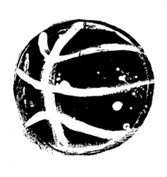 grunge basketball vector image
