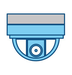 isolated security camera vector image