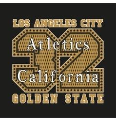 Los Angeles CA atletics golden fashion vector image vector image