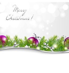 New Year Card With Garland And Ball vector image