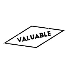 Valuable rubber stamp vector