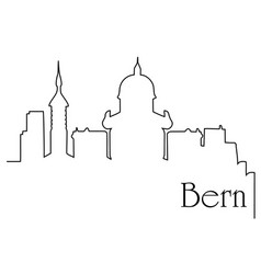 bern city one line drawing background vector image vector image