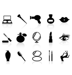 cosmetics and makeup icons set vector image vector image