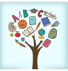school tree vector image vector image
