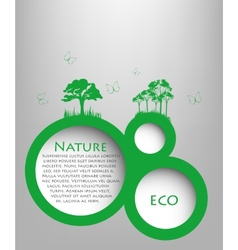 Speech Bubble natyre with grass vector image