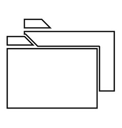 two folder it is black icon vector image vector image