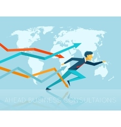 Ahead business consulting vector image