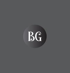 B g joint letter logo monogram design vector