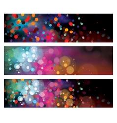 background lights vector image