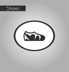 Black and white style icon sport shoes vector