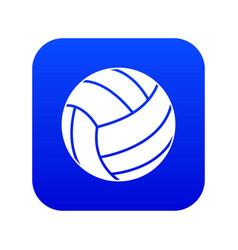 Black volleyball ball icon digital blue vector