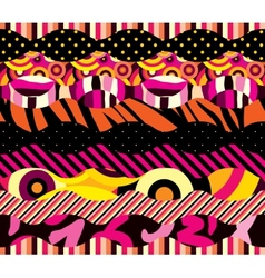Bright colour pattern vector