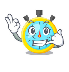 call me cartoon stopwatch on for the race vector image