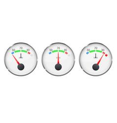 Car engine temperature gauge cold normal vector