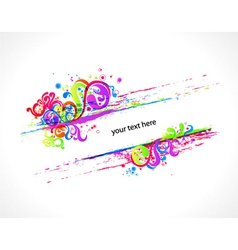Colorful swirls frame vector