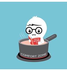 comfort zone conceptual cartoon vector image