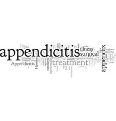 Common facts about appendicitis vector