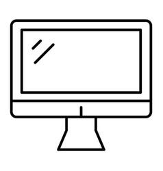 computer monitor thin line icon screen vector image