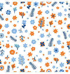 cute floral seamless pattern with flowers and vector image