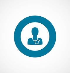 Doctor bold blue border circle icon vector