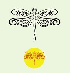 Dragonfly decor vector image